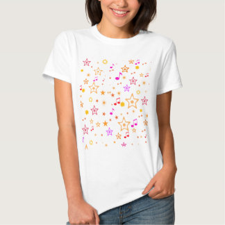 Musical Notes and Stars: T Shirts