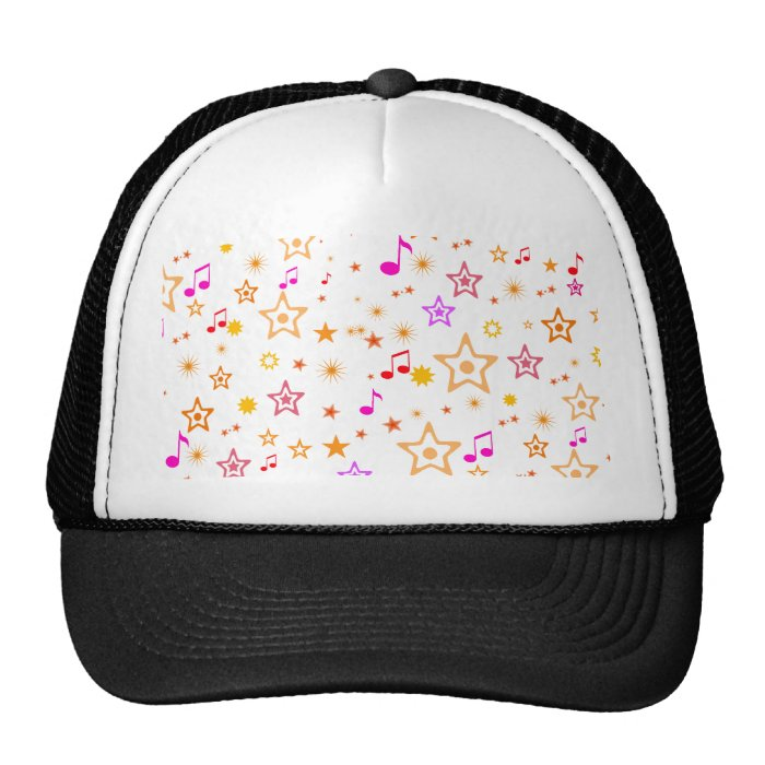 Musical Notes and Stars: Trucker Hat