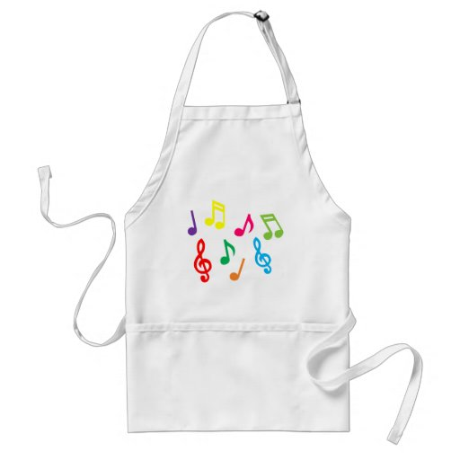 Musical notes aprons