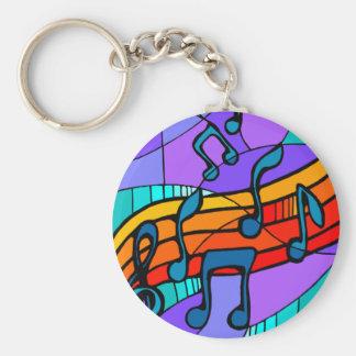 Musical Notes Basic Round Button Keychain