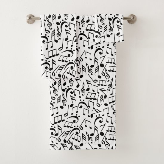 Musical Notes Bath Towel Set
