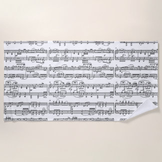 musical notes beach towel