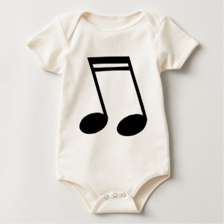 Musical Notes Beamed Semiquavers Baby Bodysuit