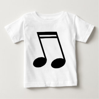 Musical Notes Beamed Semiquavers Baby T-Shirt