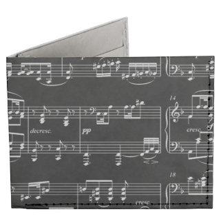 musical notes billfold wallet