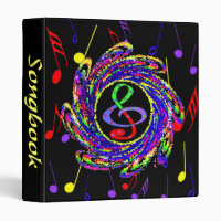 Musical Notes Binder