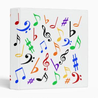 Musical Notes Binder - Multi