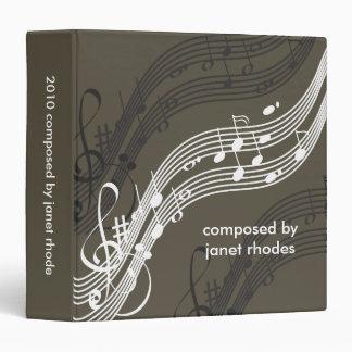 Musical notes binders, Christmas Gift 3 Ring Binder