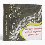 Musical notes binders, DIY background color! 3 Ring Binder