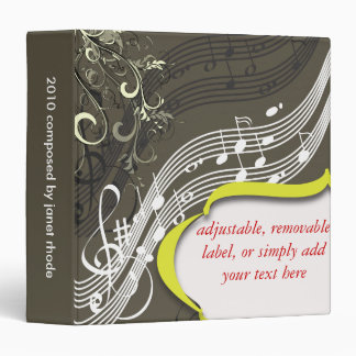 Musical notes binders, DIY background color!