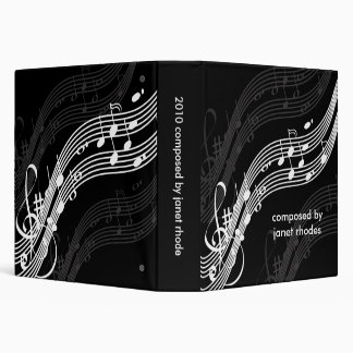 Musical notes binders, DIY color+fonts 3 Ring Binder