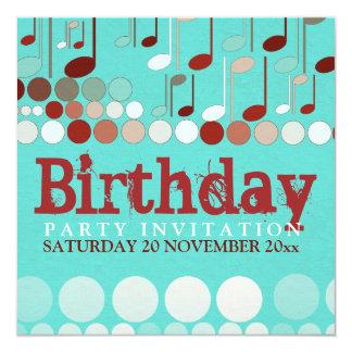 Musical Notes Birthday Invitation