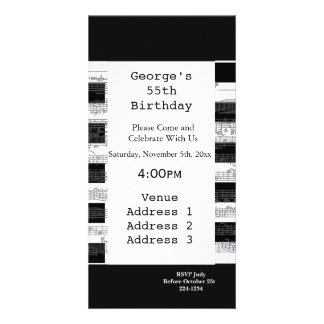 Musical Notes Birthday Photo Card Template
