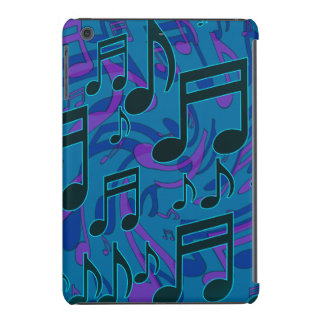 Musical Notes Blue Green Lively Music Pattern iPad Mini Case