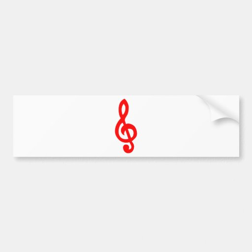 Musical notes bumper stickers