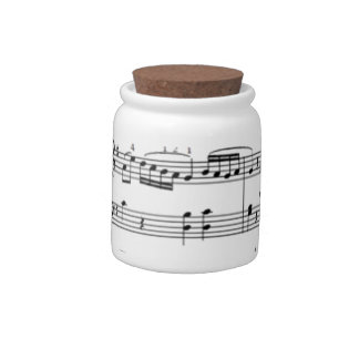 musical notes candy jars