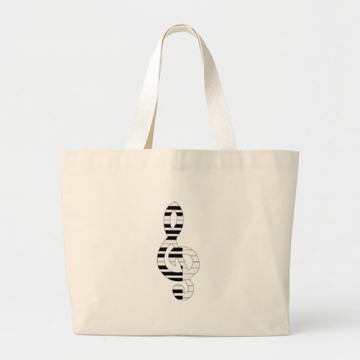 musical notes canvas bags