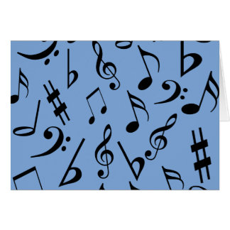 Musical Notes Card - Blue