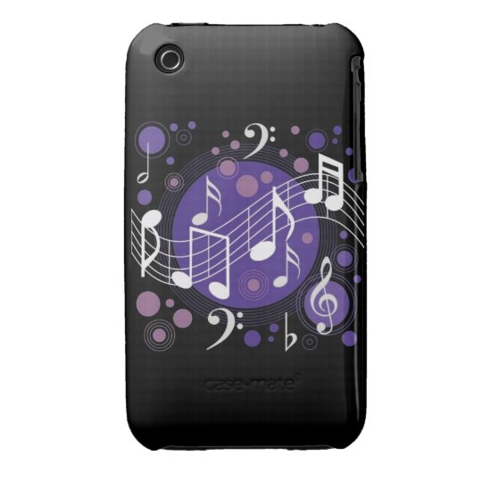 Musical Notes Case-Mate iPhone 3 Case