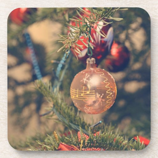 Musical notes Christmas ornament Beverage Coaster