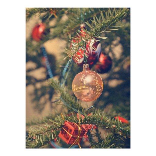 Musical notes Christmas ornament Custom Invitation