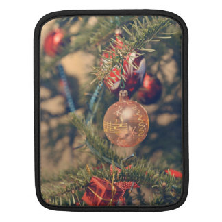 Musical notes Christmas ornament iPad Sleeves