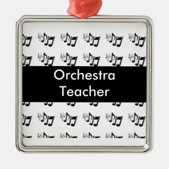 Musical Notes Christmas Ornament Template