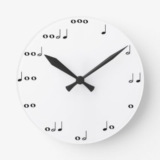 Musical notes clock
