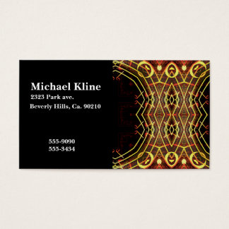 Musical Notes Color Burst Monogram Business Card