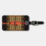 Musical Notes Color Burst Monogram Tag For Bags