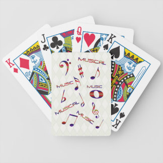 Musical Notes-Colorful Bicycle Poker Cards