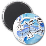 Musical Notes Come to Life Music Adds Joy to Life 2 Inch Round Magnet