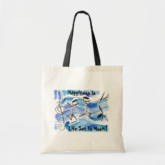 Musical Notes Come to Life Music Adds Joy to Life Budget Tote Bag