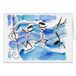 Musical Notes Come to Life Music Adds Joy to Life Stationery Note Card