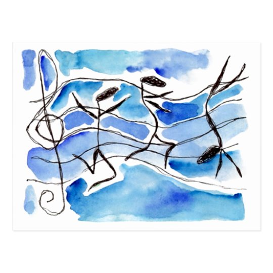 Musical Notes Come to Life Music Adds Joy to Life Postcard