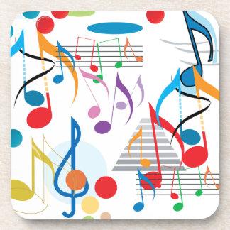 Musical Notes Drink Coasters