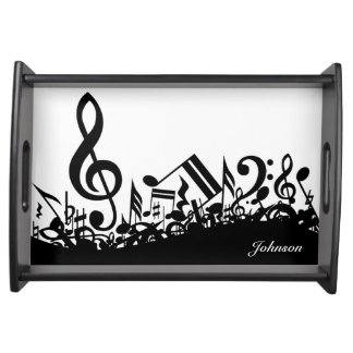 Musical Notes Custom Name Serving Tray