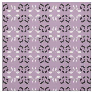 Musical Notes Design Fabric