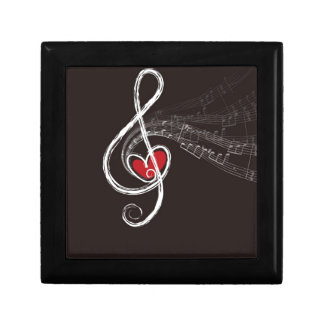 Musical Notes Design Jewelry Box