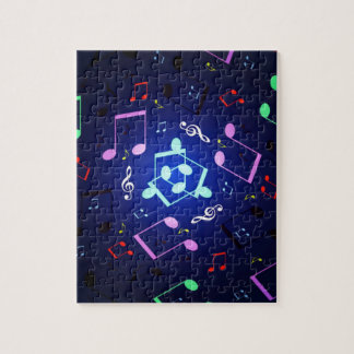 Musical Notes Design Jigsaw Puzzle