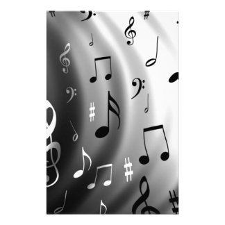 Musical Notes Design Stationery