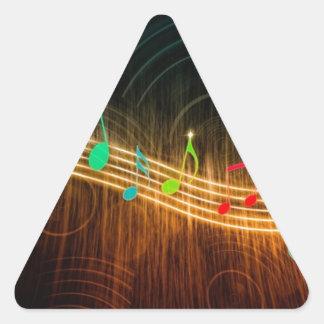 Musical Notes Design Triangle Sticker