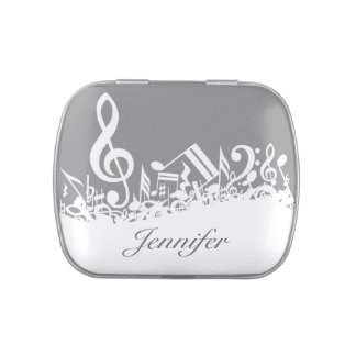 Musical Notes Dinner Mint Favor Box Jelly Belly Tin
