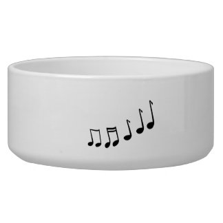 Musical Notes Dog Bowls