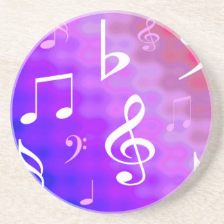 Musical notes drink coaster