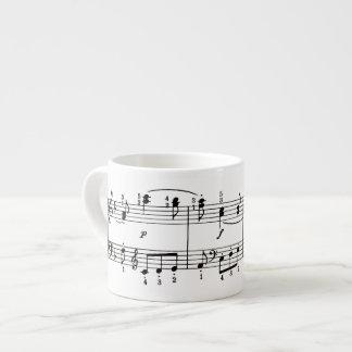 Musical Notes Espresso Mug 6 Oz Ceramic Espresso Cup