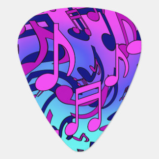 Musical Notes Expressive Colorful Music Pattern Guitar Pick