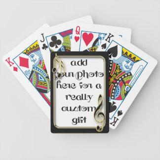 Musical Notes Frame Keepsake Photo Template Playin Bicycle Playing Cards