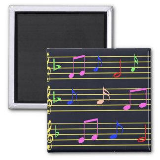 Musical Notes Fridge Magnet