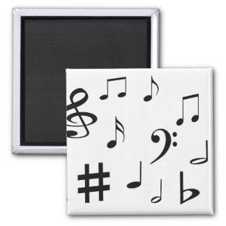 Musical Notes Fridge Magnets
